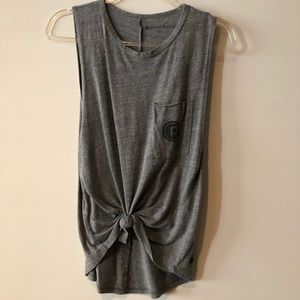 Heather gray Pure Barre muscle tank
